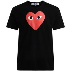 Clothing Men short-sleeved t-shirts Comme Des Garcons Comme Des Garçons T-Shirt PLAY black with red heart Black