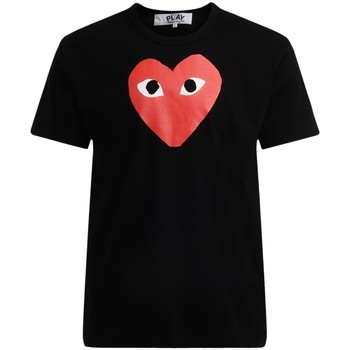 Clothing Men short-sleeved t-shirts Comme Des Garcons Comme Des Garçons T-Shirt PLAY black with red heart Black