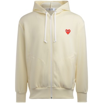 Clothing Men sweaters Comme Des Garcons Ivory  sweatshirt with red heart White