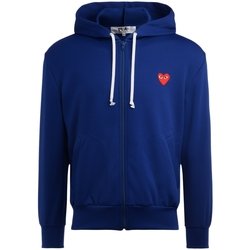 Clothing Men sweaters Comme Des Garcons sweatshirt blue with red heart Blue