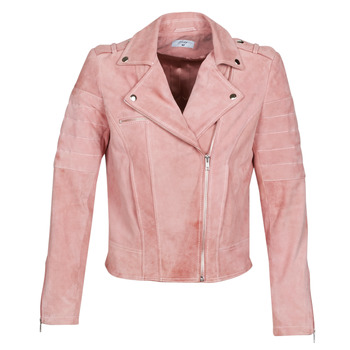 Clothing Women Leather jackets / Imitation leather Betty London MARILINE Pink