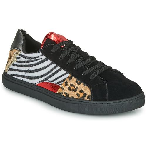 Shoes Women Low top trainers Les Petites Bombes MOONWALK Black