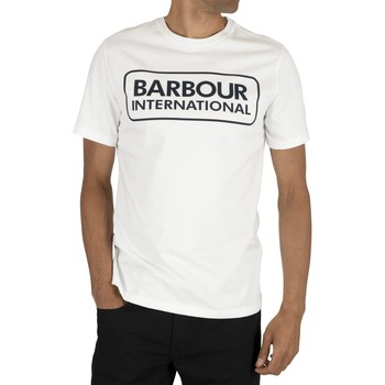 Clothing Men short-sleeved t-shirts Barbour International Essential Large Logo T-Shirt white