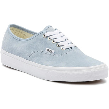 Shoes Women Fitness / Training Vans Authentic Womens Blue Fog / White Trainers Blue