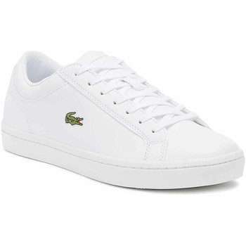 Shoes Men Fitness / Training Lacoste Straightset BL 1 Mens White Trainers White
