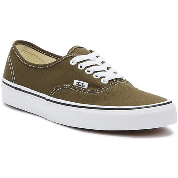 Shoes Men Fitness / Training Vans Authentic Mens Brown / White Trainers Brown