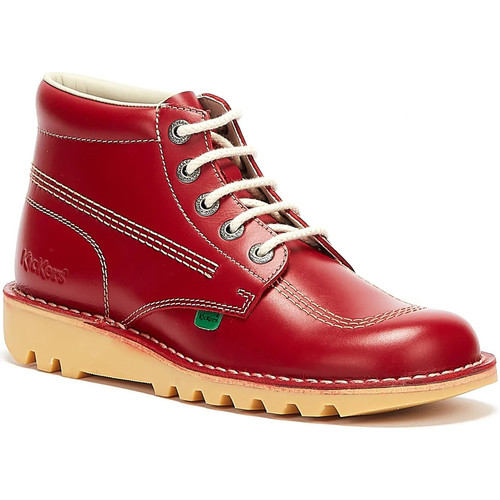 Shoes Men Mid boots Kickers Kick Hi Mens Red Leather Boots Red