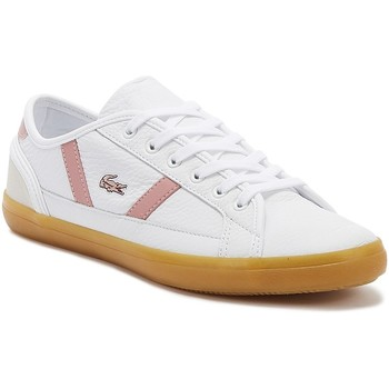 Shoes Women Fitness / Training Lacoste Sideline 319 1 Womens White / Pink Trainers White
