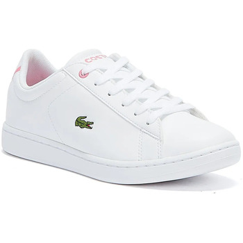Shoes Children Fitness / Training Lacoste Carnaby EVO BL 2 Junior White / Pink Trainers White