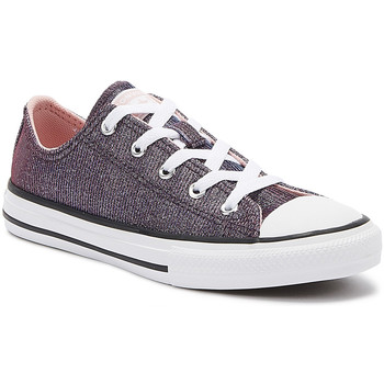 Shoes Fitness / Training Converse Chuck Taylor All Star Youth Coastal Pink Ox Trainers Purple