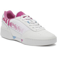 Shoes Women Fitness / Training Ellesse Piacentino Womens White / Super Pink Trainers White