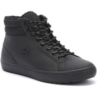 Shoes Men Mid boots Lacoste Straightset Thermo 419 2 Mens Black Boots Black