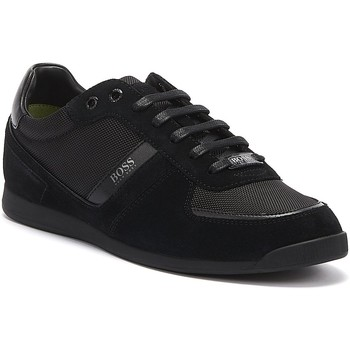 Shoes Men Fitness / Training Hugo Boss Glaze Mix Low Mens Black Trainers Black