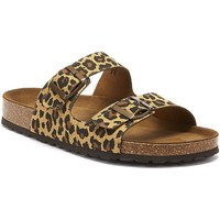 Shoes Women Mules Tower London Mai Tai Womens Leopard Slides Brown