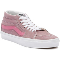 Shoes Women Hi top trainers Vans Retro Sport Sk8-Mid Womens Pink Trainers Pink