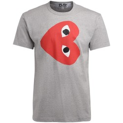 Clothing Men short-sleeved t-shirts Comme Des Garcons men's t-shirt in gray cotton with Grey
