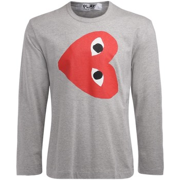 Clothing Men Long sleeved tee-shirts Comme Des Garcons men's t-shirt long sleeve in gray Grey