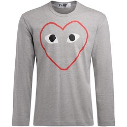 Clothing Men Long sleeved tee-shirts Comme Des Garcons men's grey t-shirt with empty heart Grey