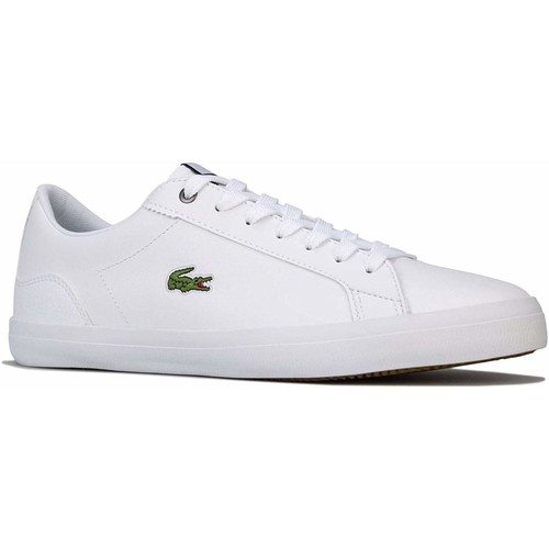 Shoes Men Low top trainers Lacoste Lerond 418 Leather Trainers White