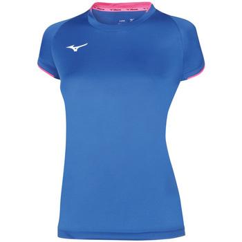 Clothing Women Short-sleeved t-shirts Mizuno Maillot  femme Core bleu royal/rose fluo