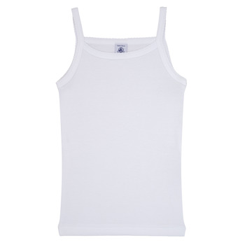 Clothing Girl Tops / Sleeveless T-shirts Petit Bateau 53295 White