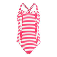 Clothing Girl Swimsuits Petit Bateau FLOTTANT Pink / White