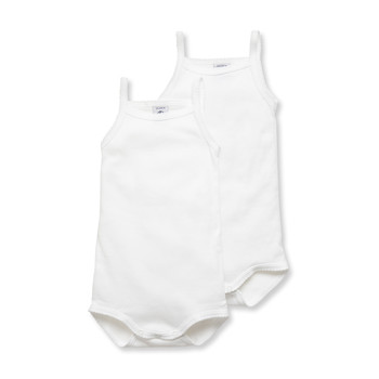Clothing Children Sleepsuits Petit Bateau 53725 White