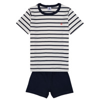 Clothing Boy Sleepsuits Petit Bateau FREW White / Blue