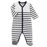 Clothing Children Sleepsuits Petit Bateau FUT White / Blue