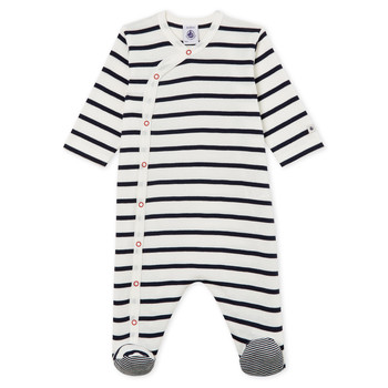 Clothing Children Sleepsuits Petit Bateau FUCHOTE White / Blue