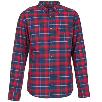 Clothing Men long-sleeved shirts Rip Curl CONNECTION Red / Blue