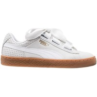 Shoes Women Derby Shoes & Brogues Puma Basket Heart Perf Gum White