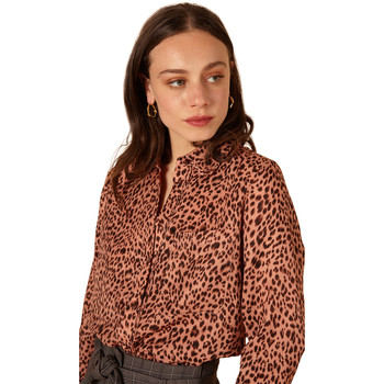Clothing Women Shirts Frnch CAITLINE Long Sleeve Blouse Leopard