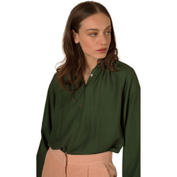 Clothing Women Shirts Frnch CHRISTIE button-down long-sleeved shirt Green