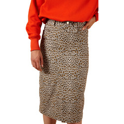 Clothing Women Skirts Frnch EBA printed mid-length straight skirt Leopard