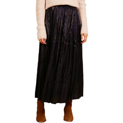 Clothing Women Skirts Frnch EMA pleated long skirt Navy blue