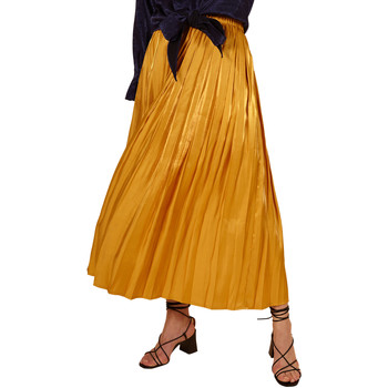 Clothing Women Skirts Frnch EMA pleated long skirt Yellow