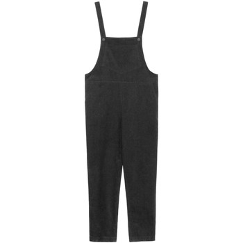 Clothing Women Jumpsuits / Dungarees Frnch Velvet jumpsuit MELODIE Black