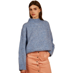 Clothing Women jumpers Frnch NEOLA knit long-sleeved knit sweater Blue