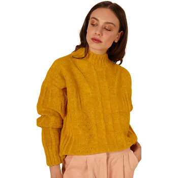 Clothing Women jumpers Frnch NORBERTE Long Sleeve Stand Collar Sweater Yellow