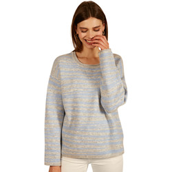 Clothing Women jumpers Frnch NEREA striped long sleeve crew neck sweater Blue