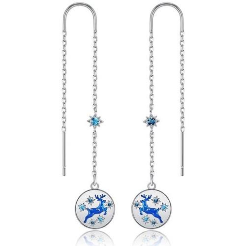 Watches & Jewellery  Women Earrings Blue Pearls CRY E394 J Blue