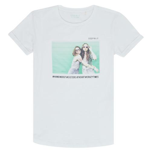 Clothing Girl Short-sleeved t-shirts Esprit ELISH White