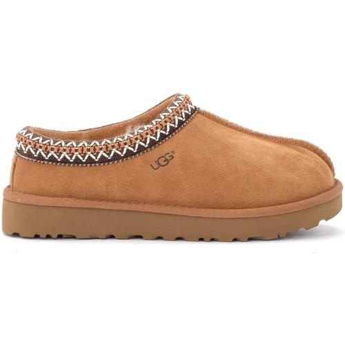 Shoes Men Slippers UGG Men's Tasman model Ugg slipper in chestnut suede leather Brown