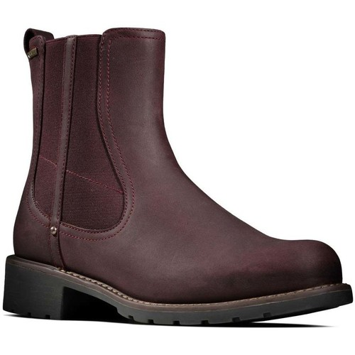 Shoes Women Mid boots Clarks Orinoco On GTX Womens Chelsea Boot red