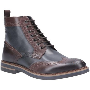 Shoes Men Mid boots Base London Banner Burnished Lace Up Brogue Boot brown