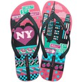 Ipanema Pink and Black flip flops Unique III