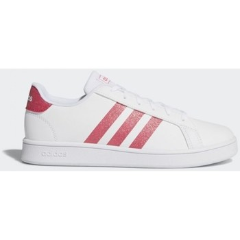 Shoes Girl Low top trainers adidas Originals GRAND COURT K EG5136 White