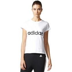Clothing Women Short-sleeved t-shirts adidas Originals Essentials Linear Tee White