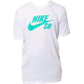 Clothing Men Short-sleeved t-shirts Nike SB Logo Tee White